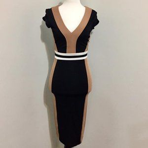 H&M Colorblock Pencil Bodycon Dress